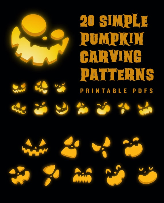 20 Printable jack-o-lantern pumpkin carving patterns for
