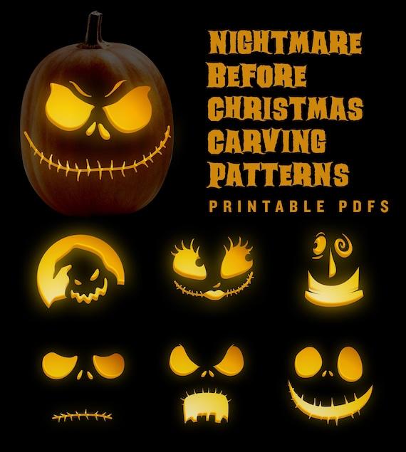 Nightmare Before Christmas jack-o-lantern pumpkin carving