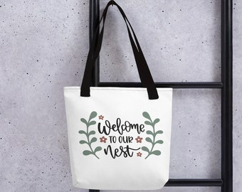 It/'s a Girl Ideas PRINTED BEIGE CANVAS Bag with Customized Image Shopping Bag Pregnancy Gifts Bag for Mother Home Essentials For Baby