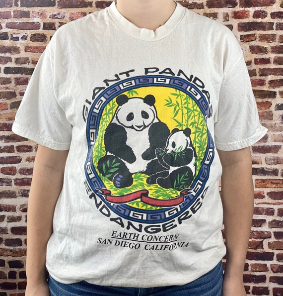 Made in USA China Giant Endangered Panda t-shirt Vintage Size Extra Large Galt Sand