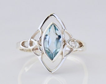 Tarnish Free Gift For Her Dainty Promise Ring Solid 925 Silver Mothers Day Gift Topaz Engagement Ring Natural White Topaz Ring