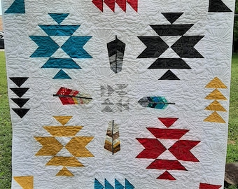 4-Corners Feather Quilt