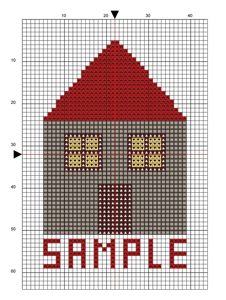 Decorative Greek Tile Instant PDF digital download Cross Stitch Pattern