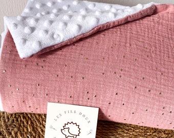 Winter baby blanket - double cotton gauze baby blanket - baby plaid - baby gift