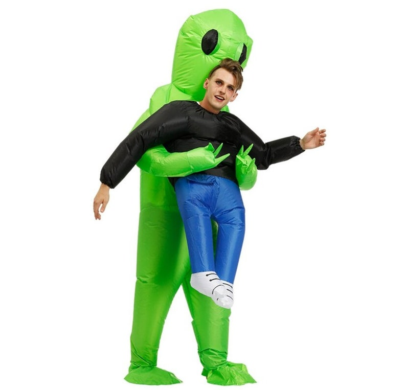 Inflatable Alien Carrying Person Halloween costume for Kids image 0