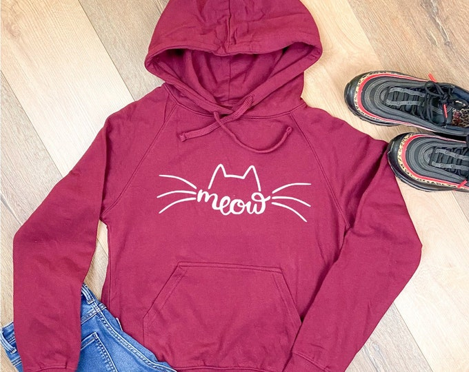 Featured listing image: Cat Meow Statmenthoodie Recreational Hoodie Hoodie Sweater Cat