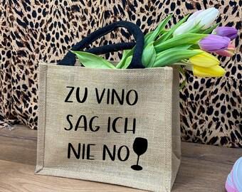 Jutetasche-Weinsprüche