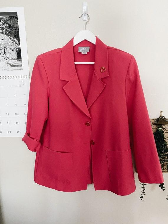 Vintage Hot Pink Blazer