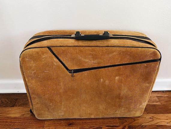 Vintage Corduroy Suitcase