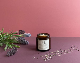 Lavender and Sandalwood scented soy candle | Boudicca