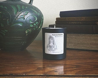Black Pomegranate scented candle | Persephone