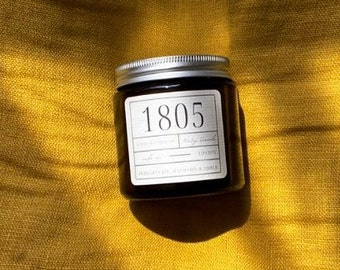 Pomegranate, Mandarin & Amber scented soy candle | Mary Seacole