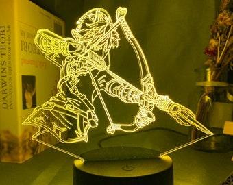 Night Light Legend of Zelda Triforce 3D LED Decor Art Lantern Table Desk Lamp US