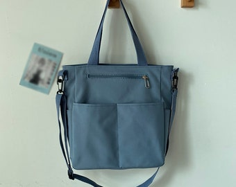 Waterproof Canvas Tote Bag, Briefcases, Shopping Bag, Mini Tote, Eco-friendly Bag, Work & School, Gift For Her