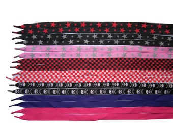 Fashion Flat Coloured Stars/checkered Pattern For Shoes/Converse/Fashion Trainers/Athletic Sports Shoelaces Width 18 cm Length 113 cm