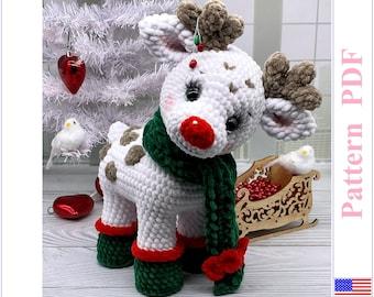 Crochet pattern in English, Reindeer, Amigurumi, Crochet deer, Handmade, Deer, Christmas deer