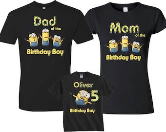 Minion Birthday Shirt for Kids and Family Custom Birthday Shirt,Individuals