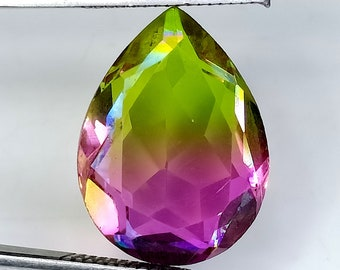 Faceted Tourmaline Pear Shape Tourmaline Gemstone 6*9 mm 1.15 Cts. Multi Tourmaline Bio Colour Tourmaline Gemstone
