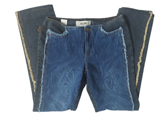 Moschino authentic jeans/ Y2K moschino damask prin
