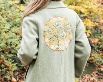 Light green wool coat