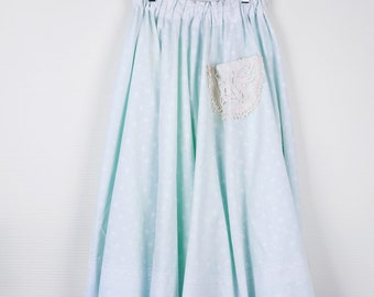 skirt Upcyclée from a tablecloth