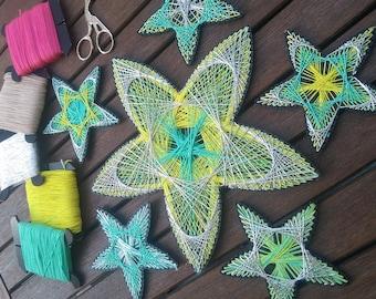 6 panels FREE SHIPPING Star Easy String Art Kit