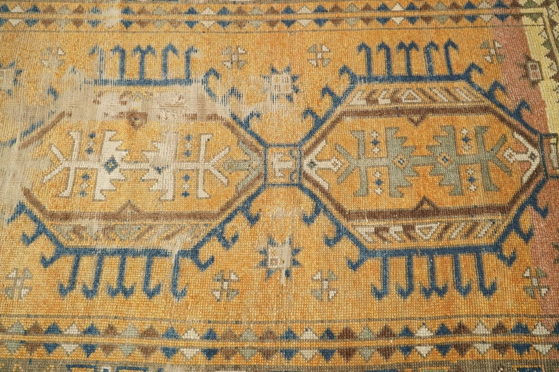 Living Room Rug Oushak Area Rug Turkish Vintage Rug Hand Made Rug GR 871 4.6 x 6.4 feet Kitchen Rug Bohemian Rug Wool Rug
