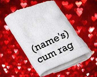 cum rag, personalised cum rag, gift for him, cum rag boyfriend gifts, husband gift, custom adult gift, novelty gift for him, gift for men