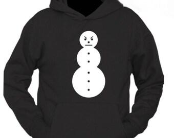 Youmymine Women Hoodie Pullover Christmas Long Sleeve Cartoon Snowman Print Sweatshirt Xmas Jumper Top