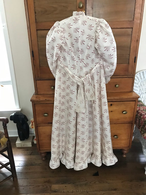Antique 1880's Calico Print Dress. Wearable Size - image 3