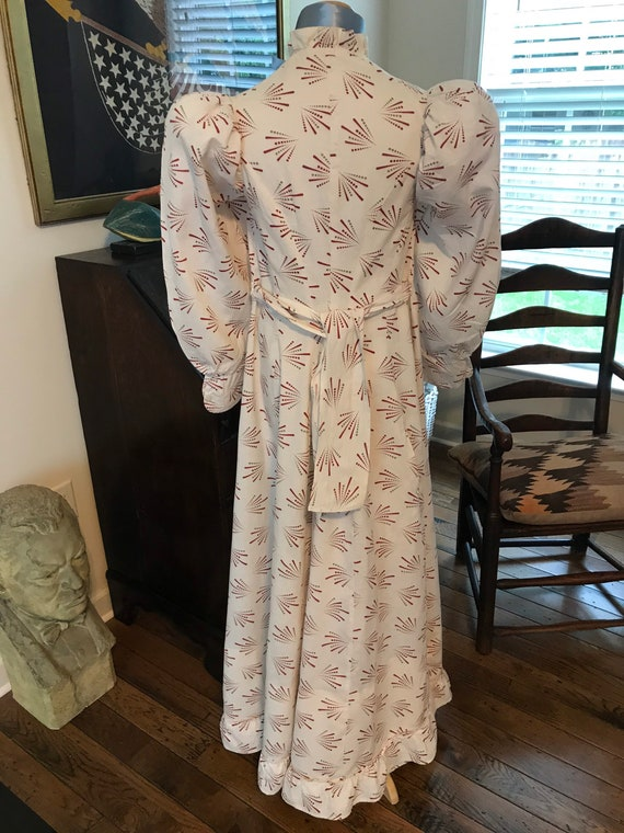 Antique 1880's Calico Print Dress. Wearable Size