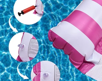 Inflatable Pool Floats for Adults Swimming Pool Pool Chairs to Beach 2 Packs Portable Water Hammock Pool Floats with a Manual Air Pump