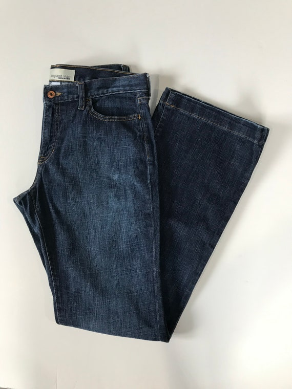 Vintage GAP 1969 Long /& Lean 10 LongTall Women/'s Stretch Boot-Cut Mid-Rise Dark Wash Denim JEANS NEW Condition!