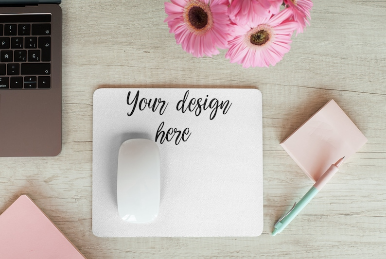 Select your backdround or color Add custom name For the office kids homeschool desk desk Custom Mouse Pad 9.25x7.75 gift study