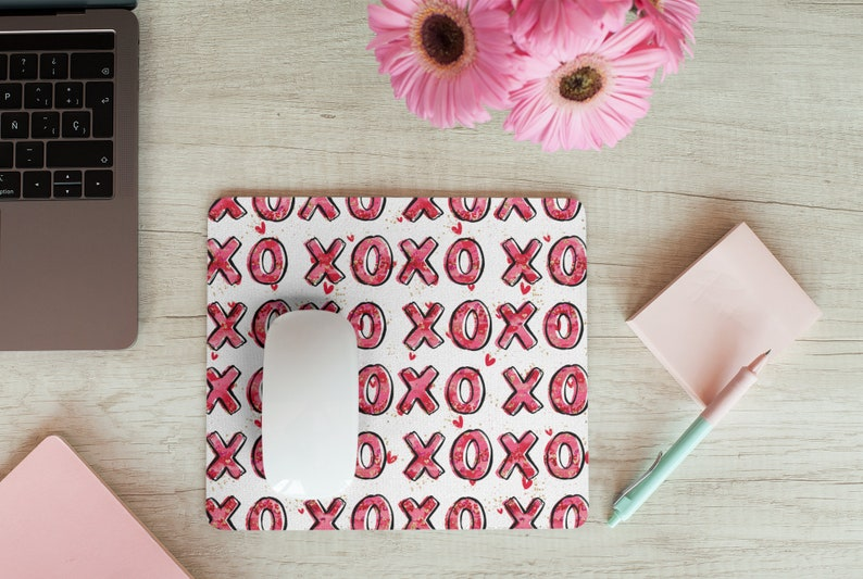 desk or study kids or adults great as a gift mouse pad   9.25 x 7.75 Fun XoXo love hug mousepad  for office
