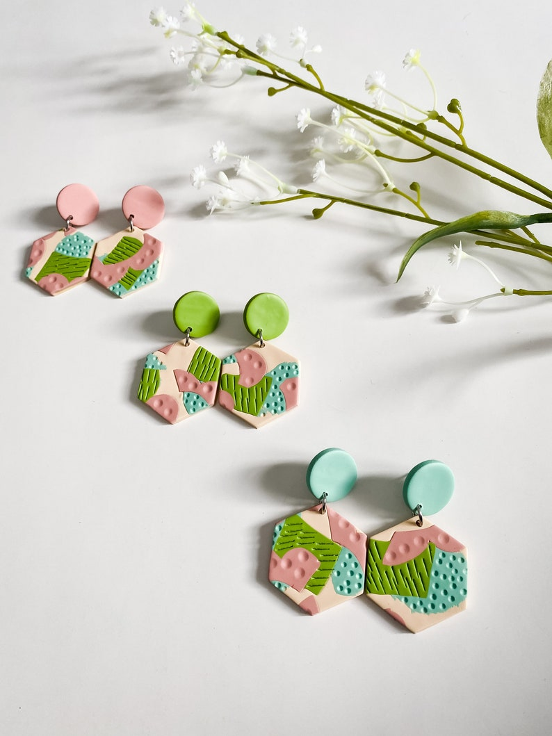 Affordable Earrings Gifts for Her   SPRING COLLECTION Unique Dangle Drop Earrings for Women Polymer Clay Earrings