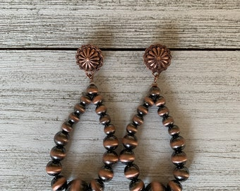 Copper Navajo Pearl Earrings