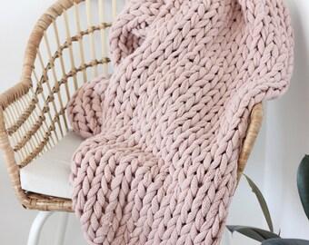 Oversize Chunky Crocheted Throw