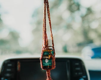 Macrame Essential Oil Car Diffuser| Hanging Oil Bottle Holder | Essential Oil Accessory | Gifts for Her | Fiber Gifts