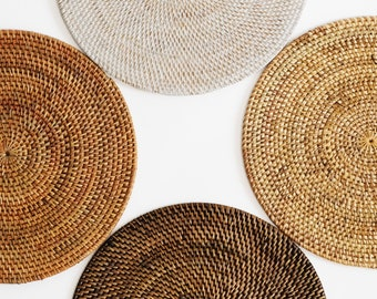 Rattan Placemat and coaster/ Wicker placemat - different sizes.