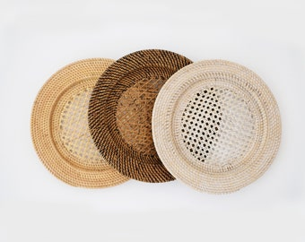 Rattan charger Plate/ Rattan Placemat / Wicker placemat. SET DISCOUNT!