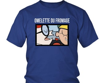 Dexters Lab Omelette Du Fromage Tee | Dexters Laboratory Cartoon Network Shirt | Nostalgia Shirts | 90's Kid Tshirts | Funny Vintage Shirt