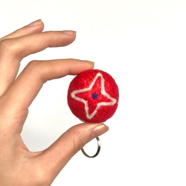 Christmas Ornament Handmade Needle Felted Wool Keychain