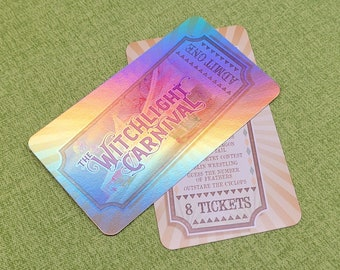 Holographic Carnival Tickets for The Wild Beyond the Witchlight