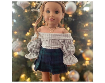 Plaid Flannel Mini Skirt Available in Various Prints and Colors Paneled A-Line Mini Skirt in Flannel Plaid Fabric with CottonPoly Lining
