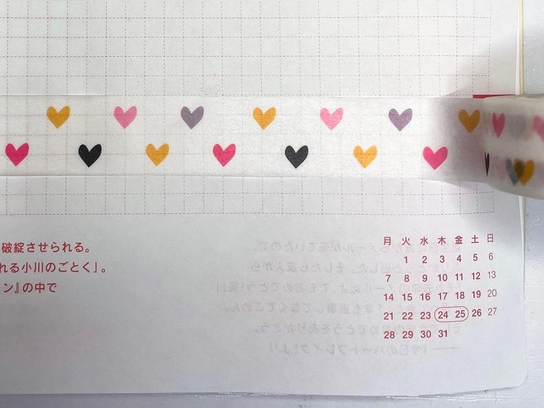 kawaii craft tape Pastel heart washi tape