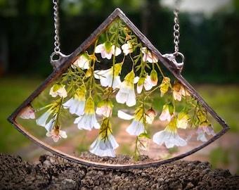 Diamond #3 Pressed Flower Suncatcher