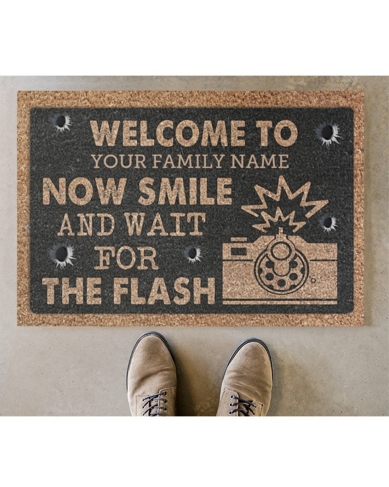 Gearhuman – Door Mat, 2ND Amendment Welcome to Doormat, Personalized doormat, House Warming, Closing Gift, Home Decor, Funny, Custom, Housewarming