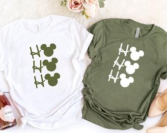 Ho Ho Ho Shirt, Disney Christmas Shirt, Christmas Matching Shirt, Girl Christmas Gift, Mickey Xmas Holiday Shirt, Christmas Party Shirt