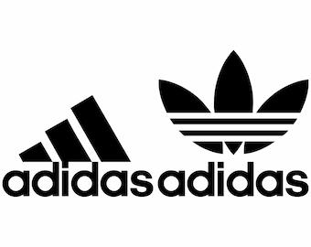 añadir forma Ceder el paso  Adidas logo | Etsy